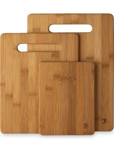 Totally Bamboo 3 Piece Bamboo Cutting Board Set, For Meat & Veggie Prep, Serve Bread, Crackers & Cheese, Cocktail Bar Board ❤ Totally Bamboo