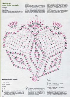 """Photo from album """"Tous Les Ouvrages on Yandex. Crochet Dollies, Lace Doilies, Love Crochet, Pinwheels, Projects To Try, Crochet Patterns, Bullet Journal, Simple, Towels"""