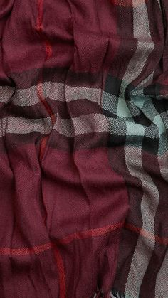 Check Wool Cashmere Crinkled Scarf | Burberry | This scarf is ART. Look at it!