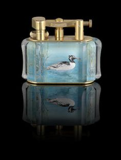 DUNHILL: An extremely rare 'Aviary' lighter