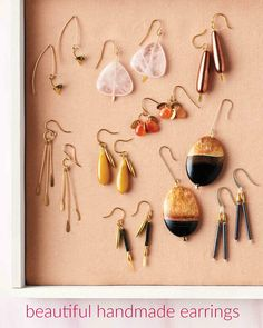 Homemade earrings are a beautiful -- and meaningful -- gift. Make a pair that suits your giftee's personality, whether it's colorful tassels or low-key studs.