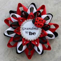 Ladybug Baby Shower Corsages Ladybug Birthday by PetalPerceptions - Color Name Baby - Ideas of Color Name Baby - Ladybug Baby Shower Corsages Ladybug Birthday by PetalPerceptions Baby Shower Pin, Baby Girl Shower Themes, Baby Shower Parties, Baby Shower Decorations, Baby Party, Baby Ladybug, Ladybug Party, Color Names Baby, Bridal Shower Corsages