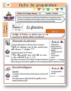 fiche de préparation étude des sons Bbc Schools, Group Work, Preschool, Bullet Journal, Coding, Teaching, Ps3, Voici, French