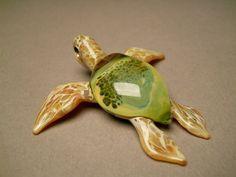 Glassnfire a glass art studio - Green Sea turtle Pendant for Men or Women, $52.00 (http://www.glassnfire.com/green-sea-turtle-pendant-1/)