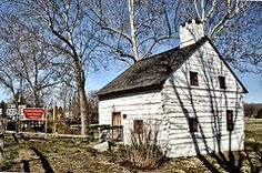 Chester County Houses Art - Downingtown Log House 1701 by Bill Cannon