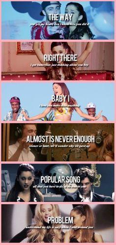 ariana grandes music videos