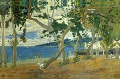 Island of Martinique in the Caribbean where I lived for four years during my childhood — One of Paul Gauguin's paintings of Martinique