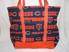 Hey, I found this really awesome Etsy listing at https://www.etsy.com/listing/262749300/chicago-bears-diaper-bag-tote-carry-on