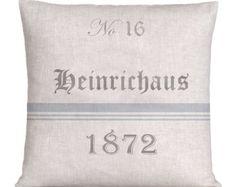 Natural Linen Grain Sack Style Pillow