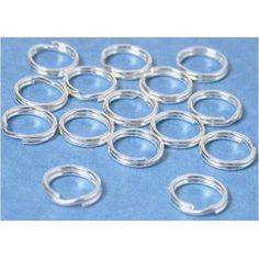 15 Sterling Silver Split Rings Charm Bead Parts Key Chain Rings, Charm Bead, Earring Backs, Soldering, Beads, Sterling Silver, Earrings, Charms, Amazon