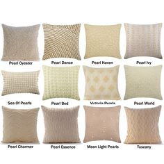 Decorative Pearl Throw Pillow Cover, Cotton Linen Pillow Cover with Pearls, Lumbar Oblong Pillow, Pearl Themed Collection Pillow Covers