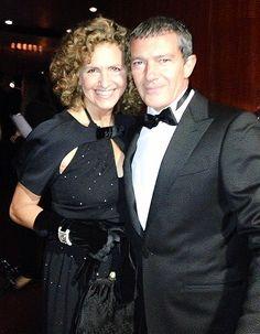 Maria Cristina Villa and Antonio Banderas