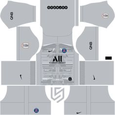 PSG Kit 19 - 2020 Dream League Soccer 2019 - RisTechy Soccer Kits, Soccer Games, Paris Saint, Goalkeeper, Psg, Real Madrid, Team Logo, Youth, Recipes