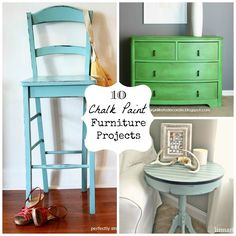 10 Chalk Paint Furniture Projects #diy
