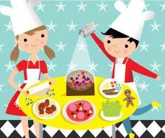 Illustration kids cooking | cooking kids
