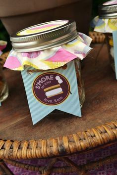 S'more party favor #glamping
