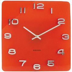 Karlsson vintage wall clock red glass