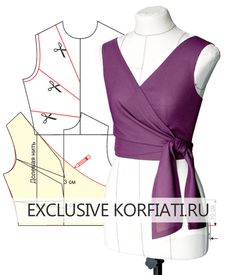 Patterns of knitted dresses with a smell from Anastasia Korfiati Dress Sewing Patterns, Blouse Patterns, Clothing Patterns, Blouse Designs, Fashion Sewing, Diy Fashion, Dress Fashion, Runway Fashion, Fashion Trends