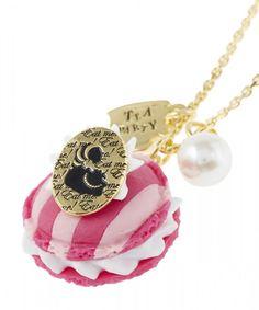 Necklace Pendant Q-pot Disney Cheshire Cat Disney Alice in Wonderland Macaron #Qpot #Chain