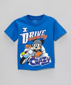Take a look at this Royal 'Drive Mommy Crazy' Tee - Toddler by Freeze on #zulily today!