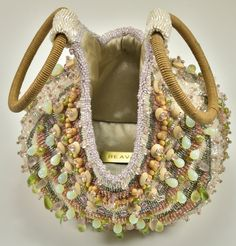 Gorgeous Bea Valdes Beaded Handbag | From a collection of rare vintage evening bags and minaudières at https://www.1stdibs.com/fashion/handbags-purses-bags/evening-bags-minaudieres/