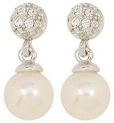 Material:  Ohrstecker mit  Strasssteinen  und einer  Perle  in Creme.    Breite…