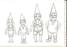 Georgia Dunn Studio: Gnome Paper doll sketches