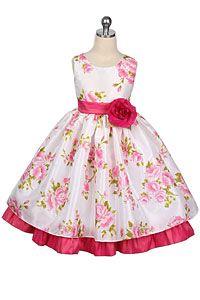 J - 140 - Sleeveless Floral Tafetta Dress - Fuchsia - Girls Flower Girl Dresses - Girls Formal Wear Sherry Kids- Boys Suit. Flower Girls, Pretty Flower Girl Dresses, Flower Dresses, Cute Dresses, Baby Flower, Girls Party Dress, Little Girl Dresses, Girls Dresses, Baby Dresses