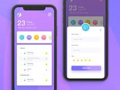 UI of to do list – Bankgeschäfte Desktop Design, Mobile Ui Design, App Ui Design, User Interface Design, Clover App, Bitcoin Chart, Budget App, Mobile App Templates, Mobile App Ui