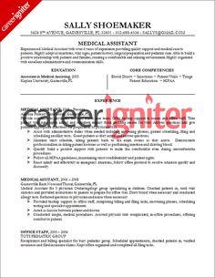 medical assistant resume sample - Medical Assistant Resumes Samples