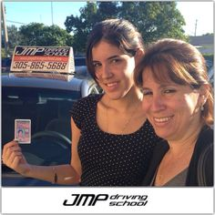 Daniela got her license with JMP Driving School. Her mother couldn't be happier with her daughter's success. Congratulations