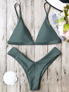 SHARE & Get it FREE | Soft Pad Spaghetti Straps Thong Bikini Set - GreenFor Fashion Lovers only:80,000+ Items • New Arrivals Daily Join Zaful: Get YOUR $50 NOW!