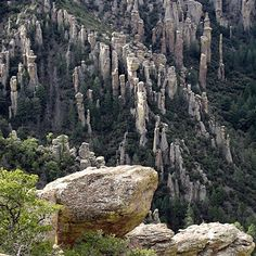 Chiricahua National Monument in Arizona. My grandfather had a lot of experience with the Chiricahua Apaches when he lived in Bisbee more than 100 yrs ago.