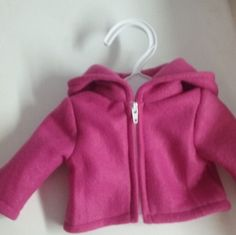 Pink Hoodie for 18 inch doll american girl by Lindassewncreations on Etsy