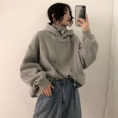 Korean Style Simple Casual Ulzzang High Quality in 2019 Casual Outfits, Cute Outfits, Fashion Outfits, Womens Fashion, Boho Fashion, Streetwear Mode, Streetwear Fashion, Style Simple, Paris Mode