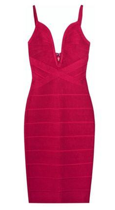 V-Neck Bandage Dress by HERVE LEGER @girlmeetsdress Pin to Win your dream dress from girlmeetsdress.com! #wingirlmeetsdress