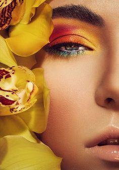 Summer Haze by Stefka Pavlova via Behance Beautiful Splashes Beautiful Makeup Stefka Pavlova Tutu Side Beautiful Hair Makeup Makeup Art, Eye Makeup, Hair Makeup, Beauty Makeup Photography, Foto Fashion, Beauty Shoot, Beauty Editorial, Colorful Makeup, Beauty Make Up