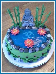 Buddha OM cake