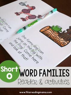 Learn to Read - Short o Review Reader and Activities - This Reading Mama