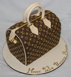 21st Louis Vuitton Bag Cake