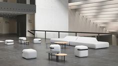 Viccarbe ImportsSeason Benchand Season Minis give visitors a location to perch in comfort.