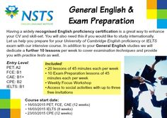 Are you ready to successfully pass your #IELTS, #PET, #FCE, #CAE, #CPE #exam ? At NSTS, in addition to your General #English course, we will offer you the chance to attend further 10 lessons per week to cover examination techniques and provide you with practice tests as well !!! For further info just send an email on nsts@nsts.org