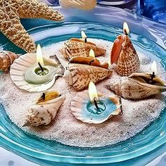 Beach theme table deco