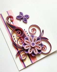 Valentine's Day Card - Valentine Card - Happy Valentine's Day - Card for Her, Girlfriend, Wife - Unique Valentine Card - Romantic Card Quilling Cards, Paper Quilling, Romantic Cards, Quilling Designs, Unique Jewelry, Valentines Day, Handmade Gifts, Greeting Cards, Mothers