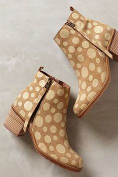 Anthropologie Freckled Booties #anthrofave #anthropologie