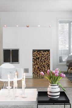 Vaalean skandinaavinen koti on maustetty pastellivärein
