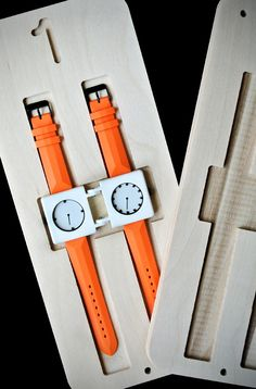 Split time limited edition dual face watch (split the time by separating the hour hand from the minute hand).  Appears to be a unisex accessory.