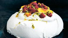 Donna Hay teaches you how to make the perfect pavlova with this simple recipe. This modern pavlova recipe idea is the perfect celebration cake for Christmas, birthdays or any big event. Australian Desserts, Australian Food, Chefs, Food Network Recipes, Cooking Recipes, Donna Hay Recipes, Sbs Food, Summer Desserts, Celebration Cakes