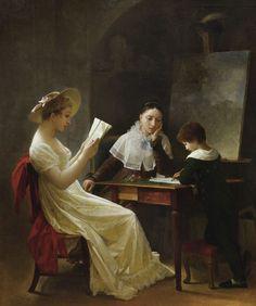 O jovem desenhista - Marguérite Gérard (1761-1837) - Óleo sobre tela - 62 x 51 cm.