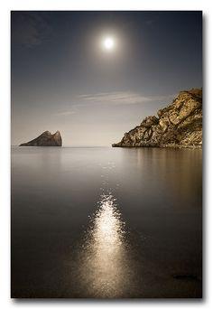 Reflejo en la noche. Isla del Fraile. Águilas, Murcia. C